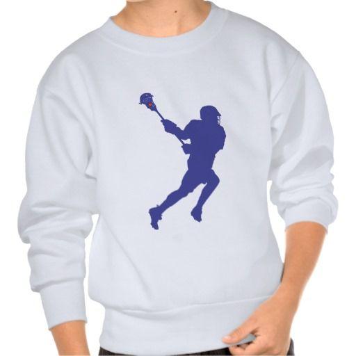Lacrosse Blue Red Pullover Sweatshirts