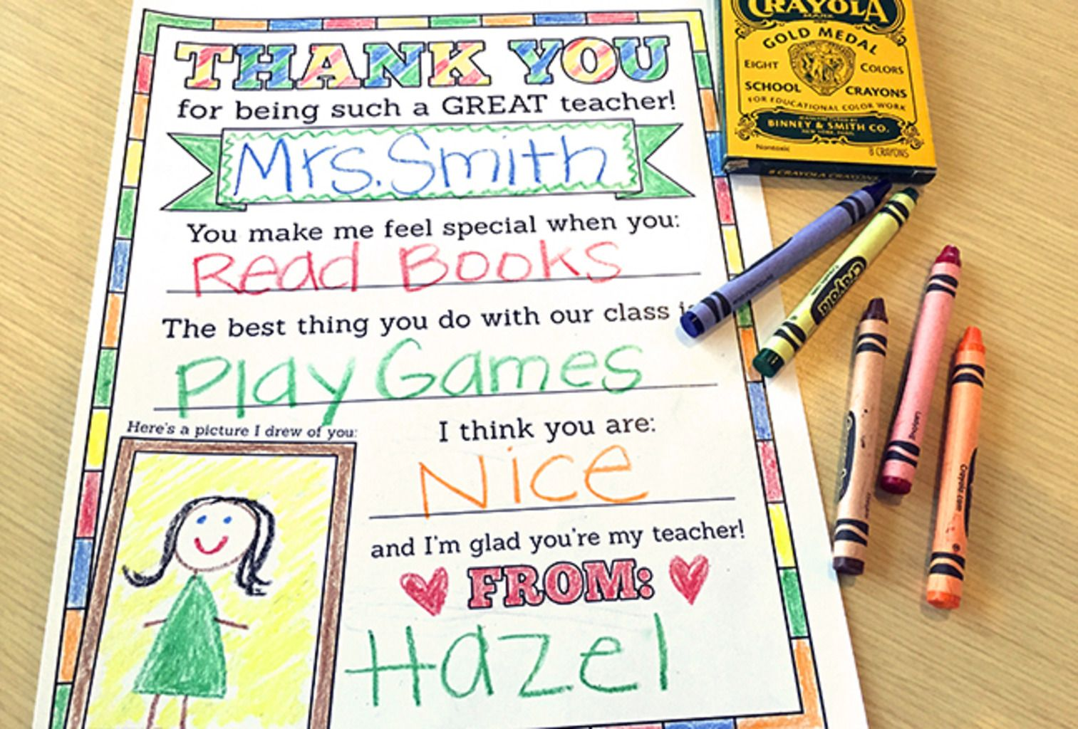 It is a photo of Punchy Printable Cards for Teachers
