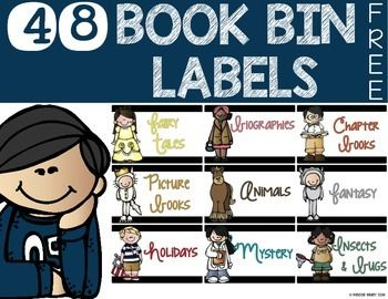 Add these FREE book bin labels to you classroom library for an easy visual to tidy up your room!