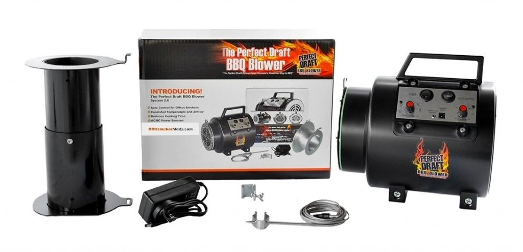 Perfect Draft Bbq Blower Fan Adapter Set For Offset Smoker Pits Bbq Offset Smoker Smoker Pit
