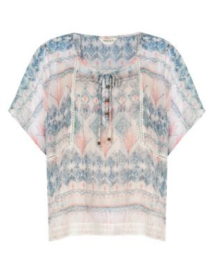 Block Print Blouse with Camisole