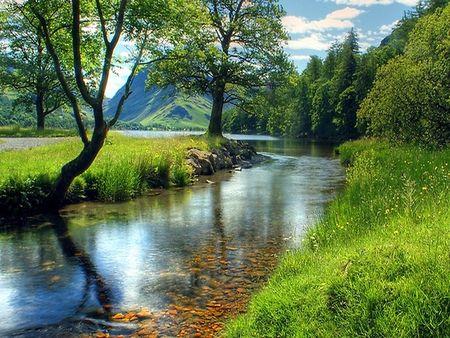 Peaceful Summer Day Desktop Nexus Wallpapers Beautiful Nature Landscape Beautiful Landscapes