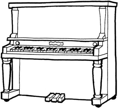 ausmalbilder klavier kostenlose | geek | Klavier ...