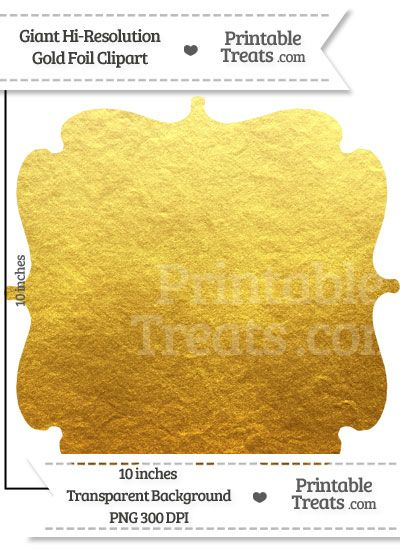 Gold Foil Giant Bracket Frame Clipart From PrintableTreats