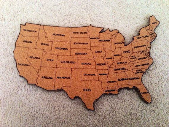 X Cork Board US Map US Travel Map With Pins Corkboardcom - Us map nebraska state