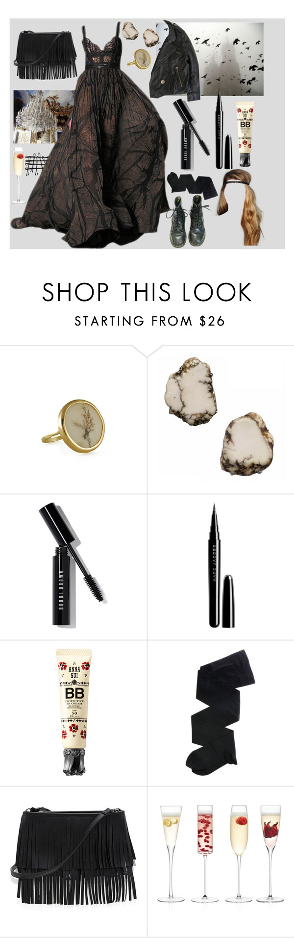 """Not what she seems at first glance"" by georginasmith-wastaken ❤ liked on Polyvore featuring Siman Tu, Bobbi Brown Cosmetics, Marc Jacobs, Anna Sui, Gerbe, White House Black Market and LSA International"