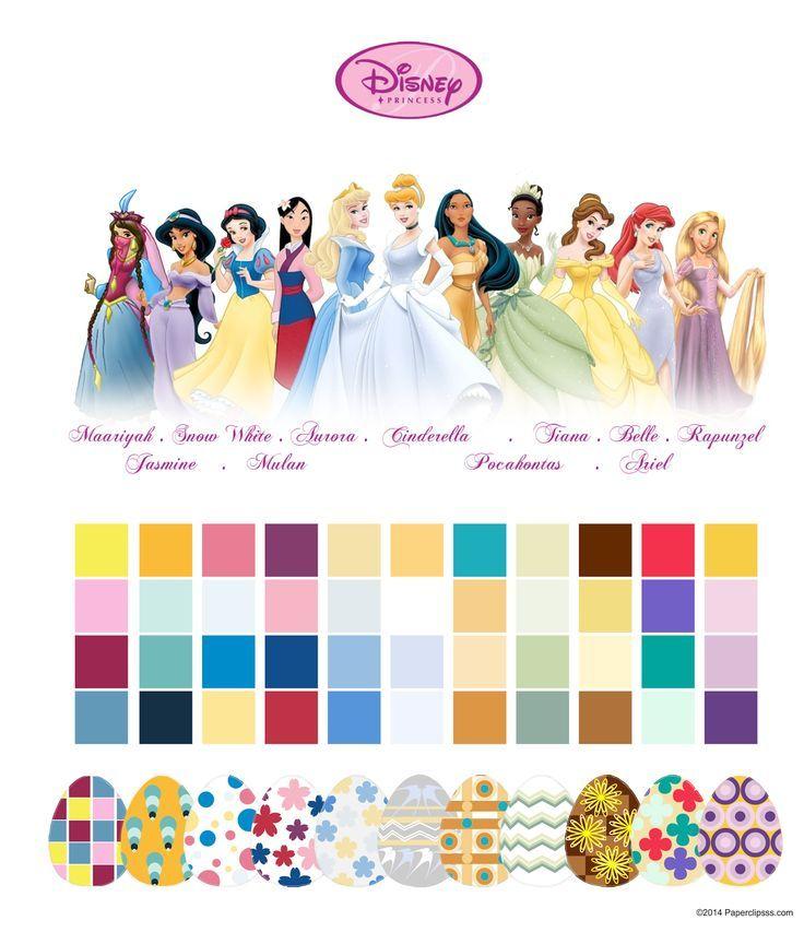 Minimalist Disney Princesses Color Palettes by Aliaa El Kalyoubi ...