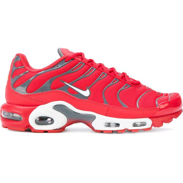 wholesale dealer 32044 4d918 Nike Air Max Plus TN sneakers ( 170) ❤ liked on Polyvore featuring men s  fashion, men s shoes, men s sneakers, red, mens round toe shoes, nike mens  ...