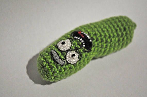 Pdf Crochet Pattern Pickle Rick From Rick And Morty Crochet