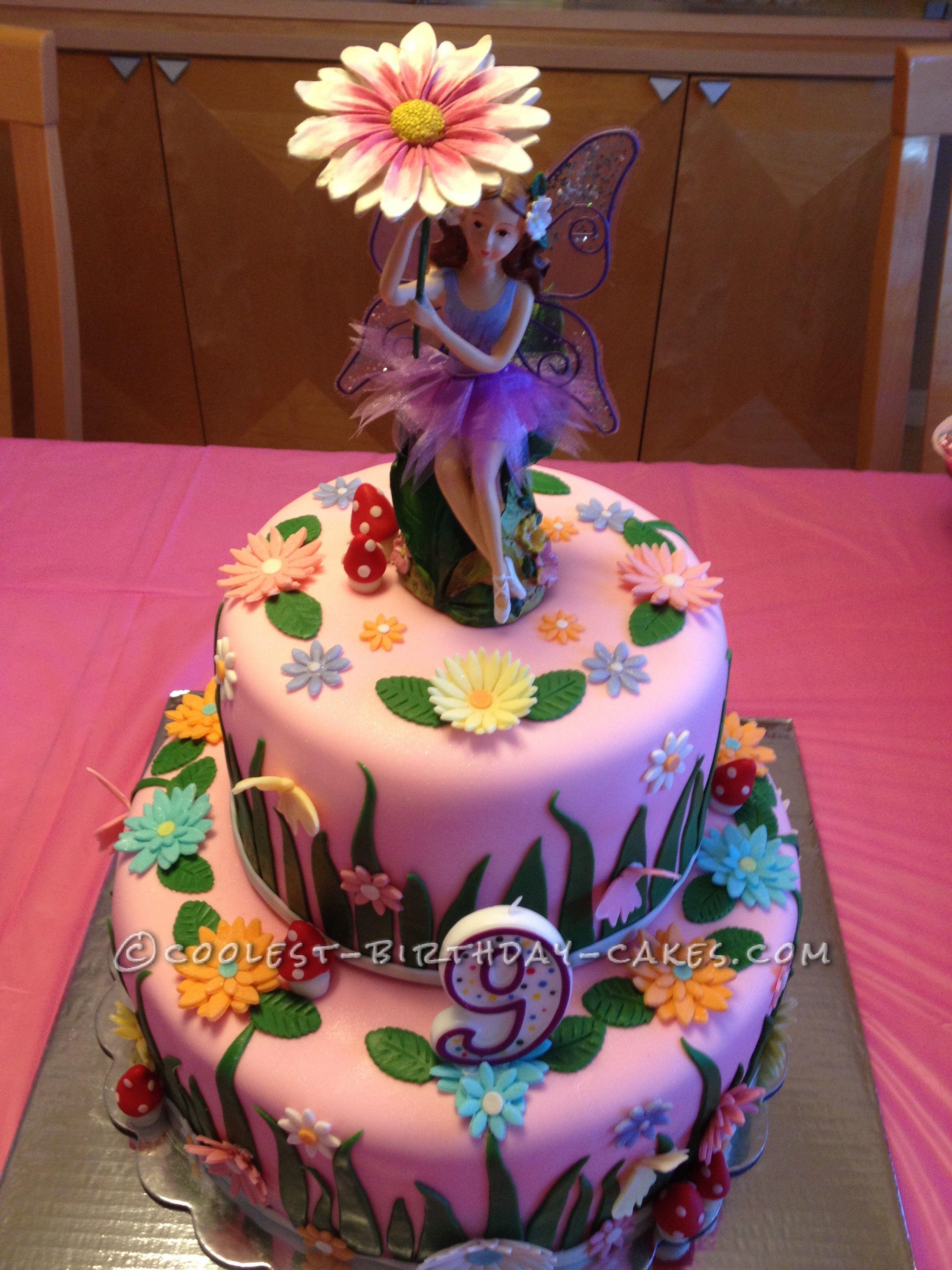 Garden Fairy Cake Fairy cakes Birthday cakes and Fairy