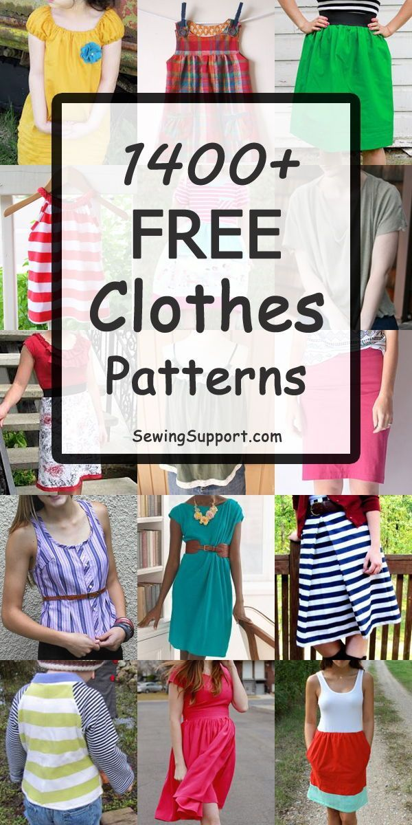 1300+ Free Clothing Patterns #clothpatterns