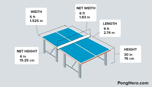 The Size Of A Table Tennis Table Is Best Described With A Picture, This Is  A Guide To The Various Dimensions Of A Regulation Ping Pong Table.