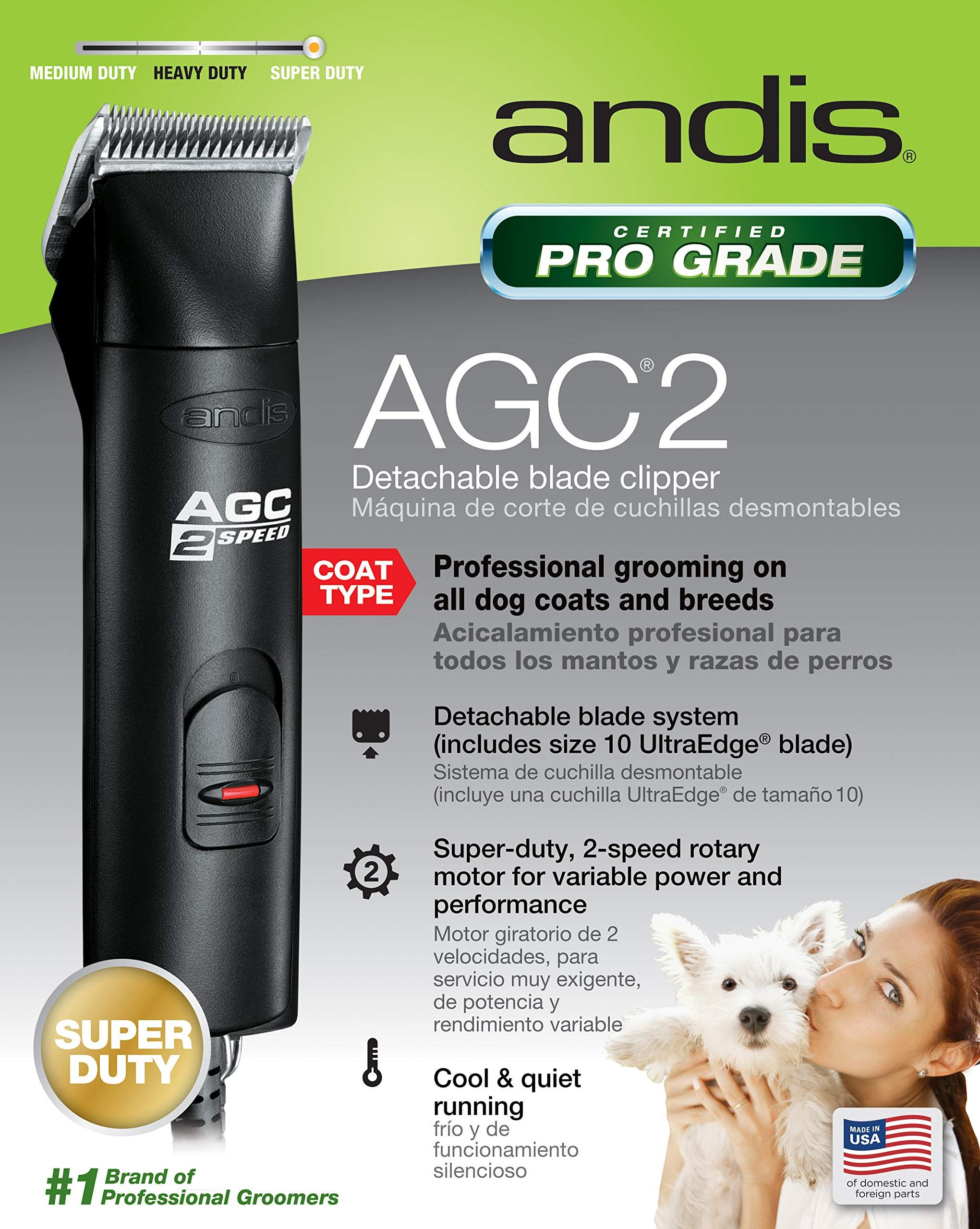 Andis Proclip Agc2 2 Speed Detachable Blade Clipper Professional Animal Grooming Agc Black 22340 Ad Speed Sponsored Deta Grooming Dog Grooming Andy