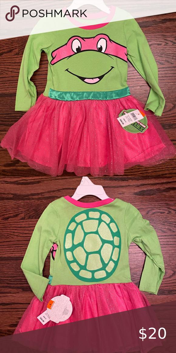 2020 Nickelodeon Tmnt Halloween Costume Ninja Turtle 2T Dress in 2020 | Girl ninja turtle, Ninja turtle