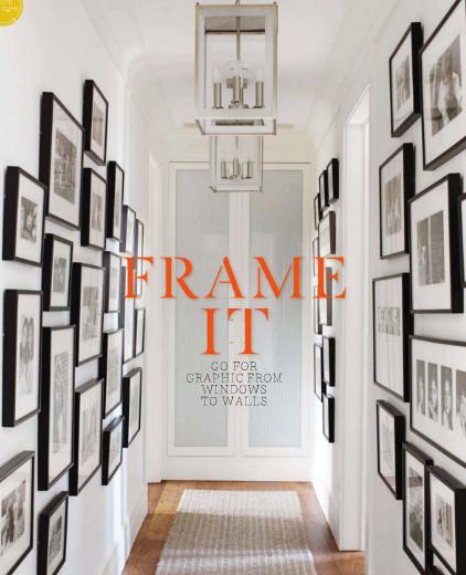 Hallway art and framing gallery wall.