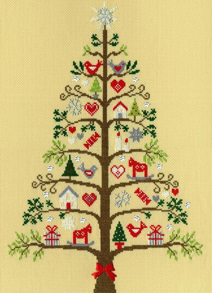 Photo of Scandi Christmas Tree Cross Stitch Kit by Bothy Threads
