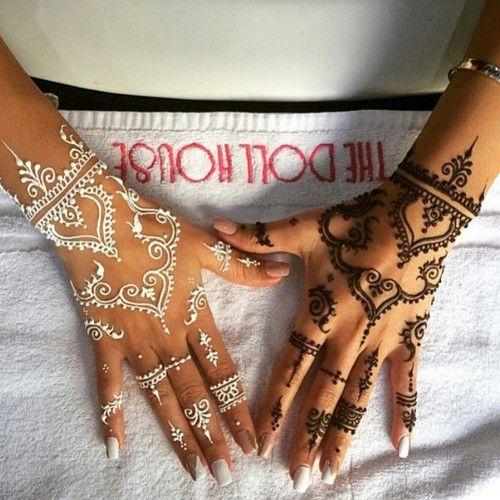 Henné Blanc henné blanc sur la main - recherche google | mehandi | henna, mehndi
