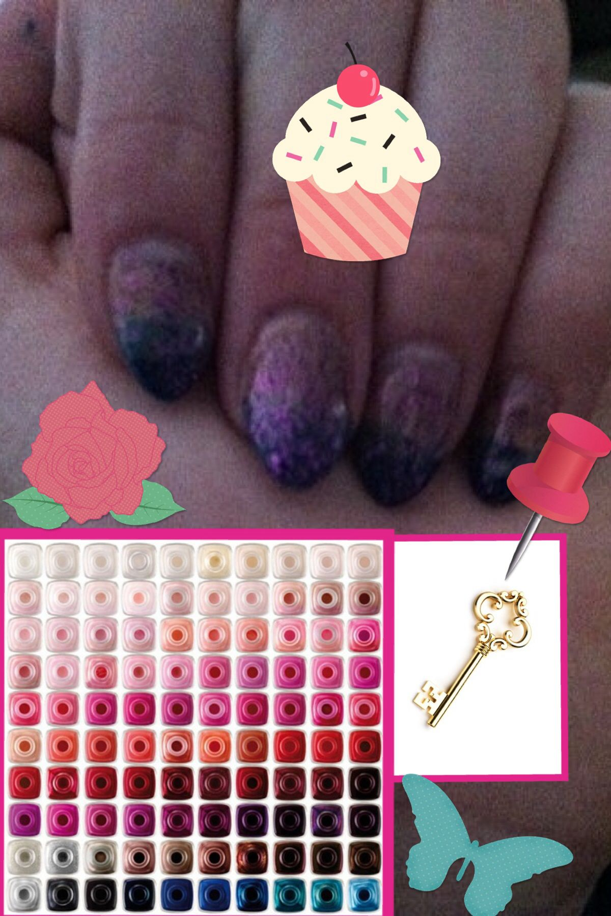 New nail style inspiration Zendaya and friends ombré art easy ...