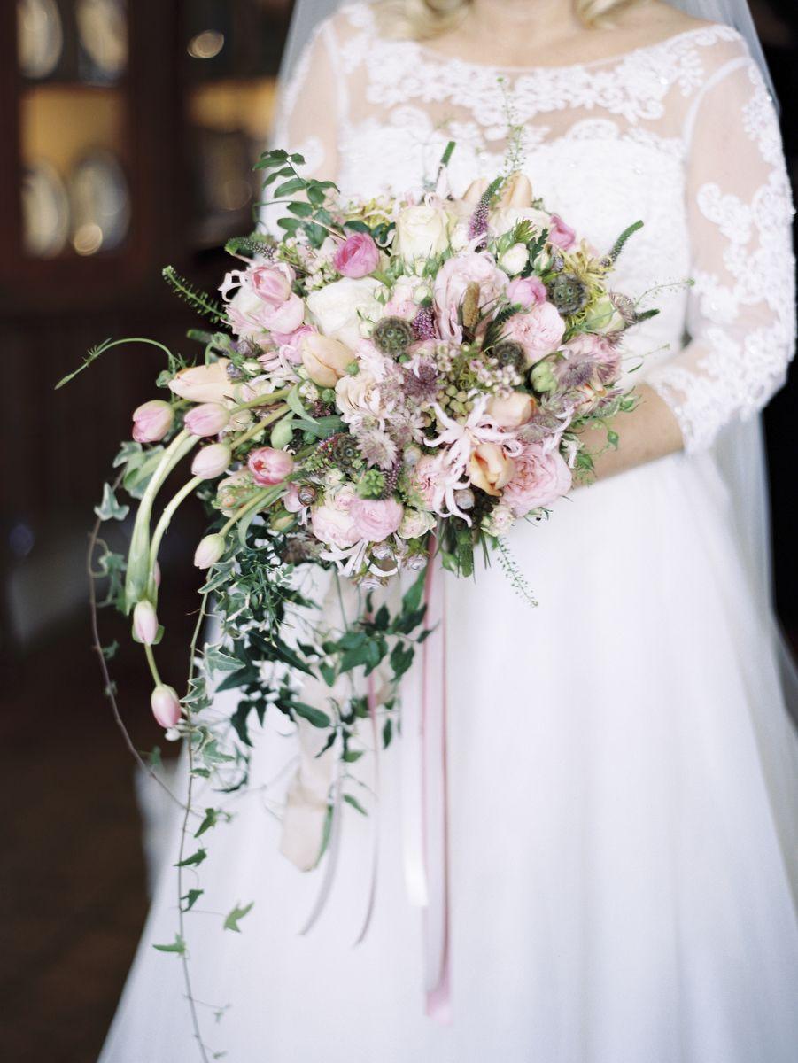 Glamorous Pink English Wedding Cascading wedding