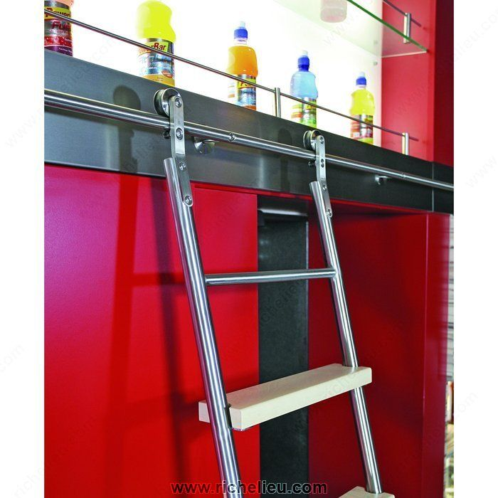 Stainless Steel 8 Step Sliding Ladder Set 11 Sliding Ladder Library Ladder Ladder Set