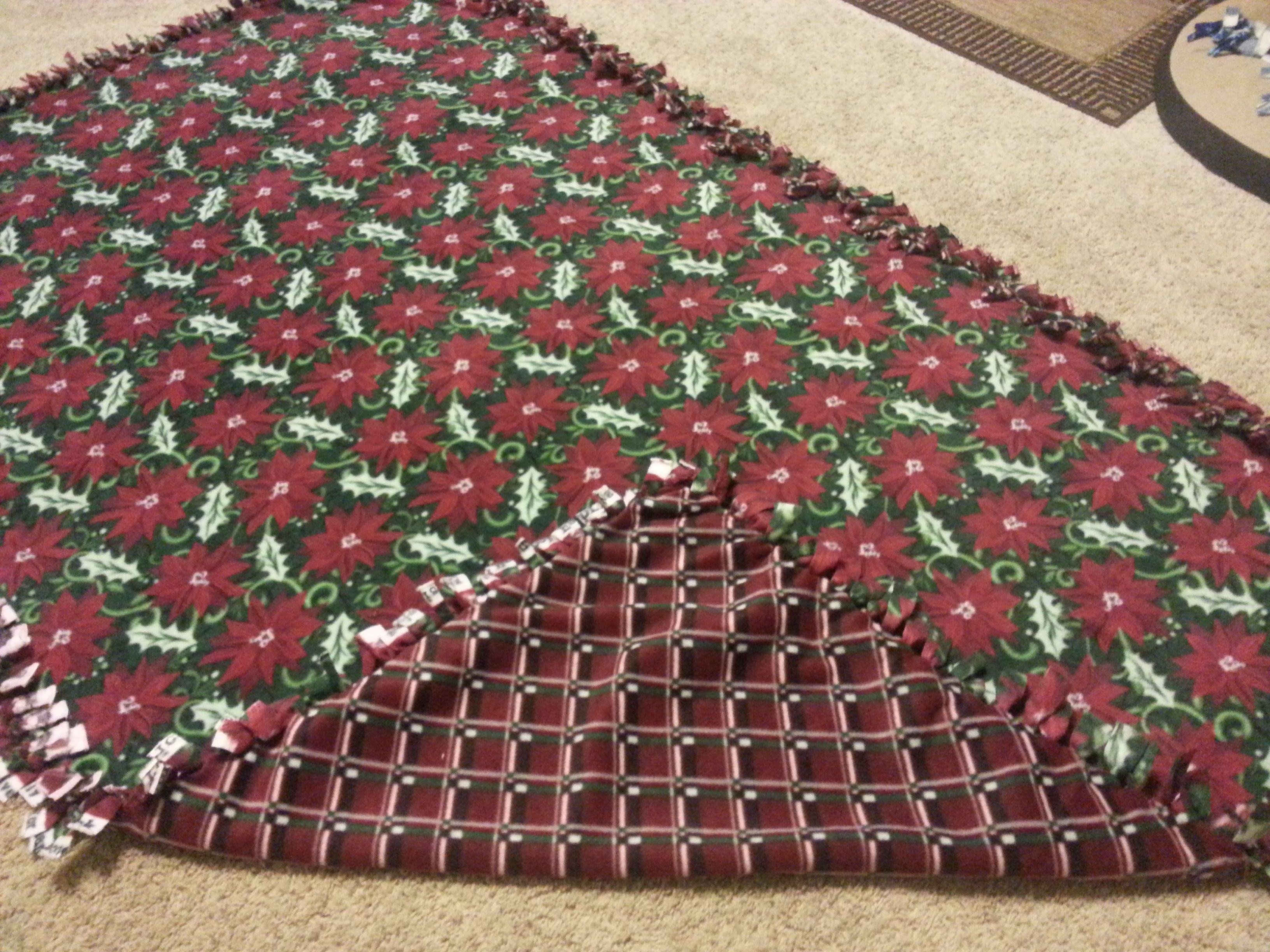 Poinsettia & Christmas pattern for Nadia