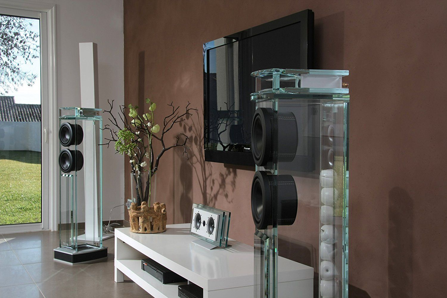 Waterfall Audio Niagara Diamond Glass Floor Standing Loudspeakers
