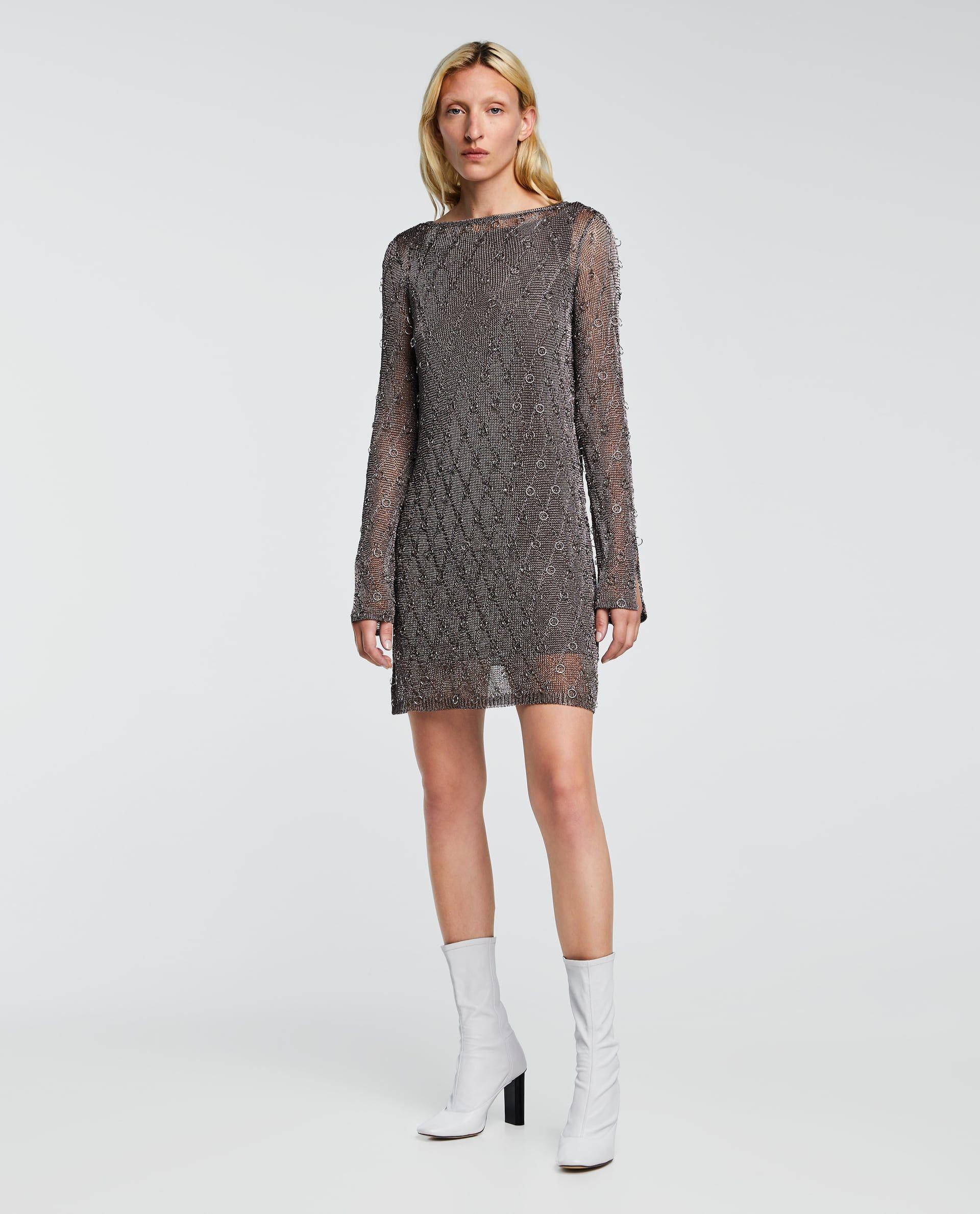 Hilo AnillasZara New Metalizado Fashion Vestido MGLzUVqpS