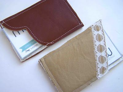 Business Card Holder Natural Vegetable Tanned Leather Card