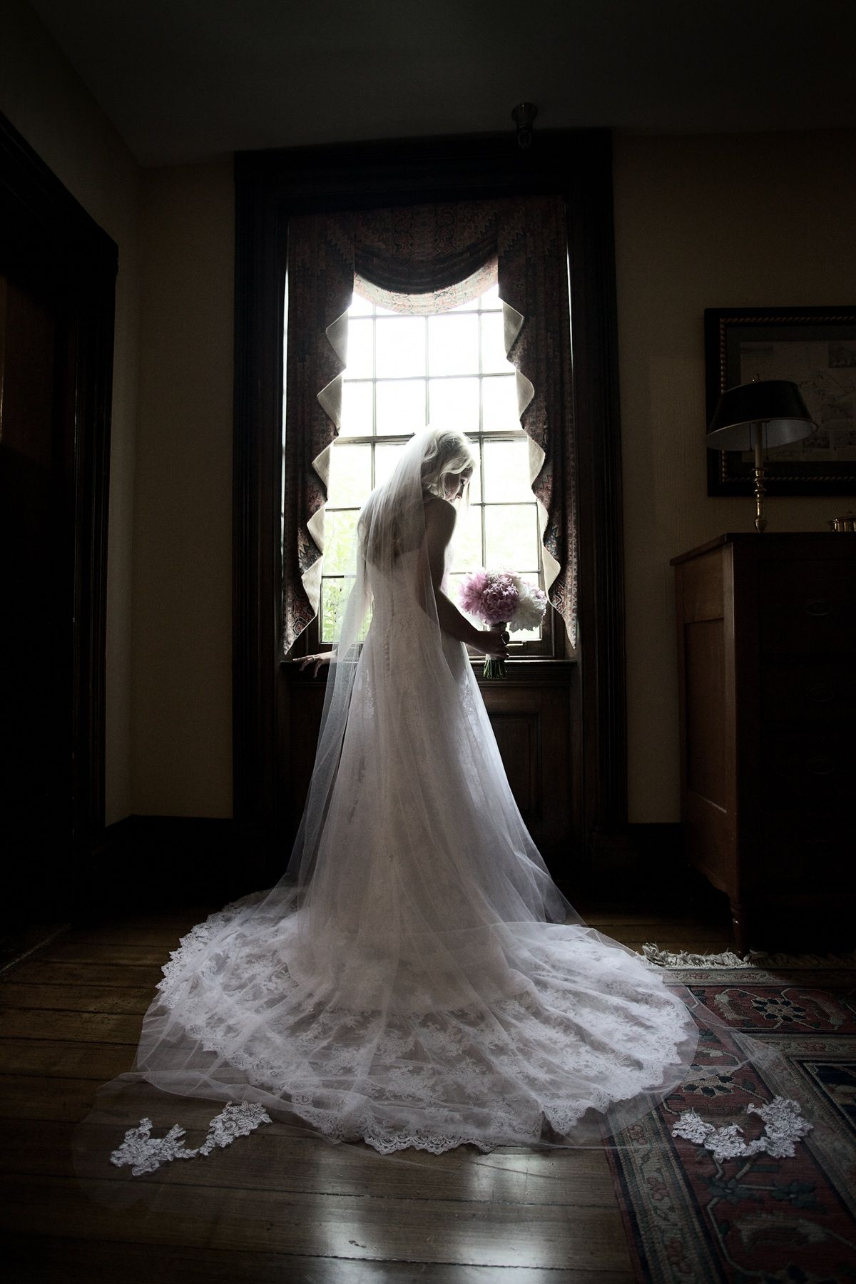 Lace train with matching cathedral veil (With images