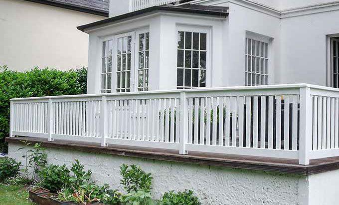 Massiver Geländer Terrasse + Balkon - Stadtvilla Renovierung home - terrassen gelander design