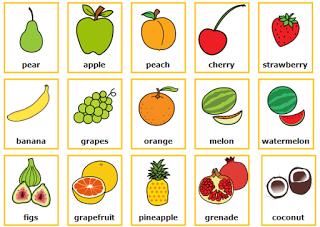 Imagenes Y Nombres De Frutas En Ingles Educanimando Ingles Para Preescolar Verduras En Ingles Material Escolar En Ingles
