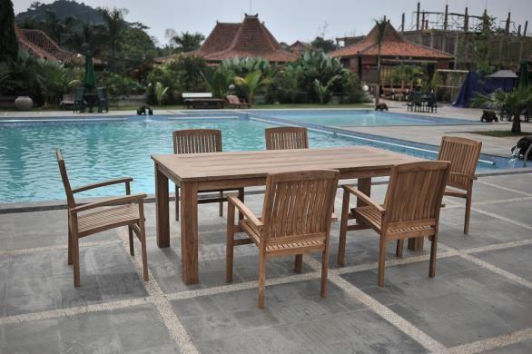 Teak Gartentisch 200x100cm Gartenmobel Outdoor Furniture Sets