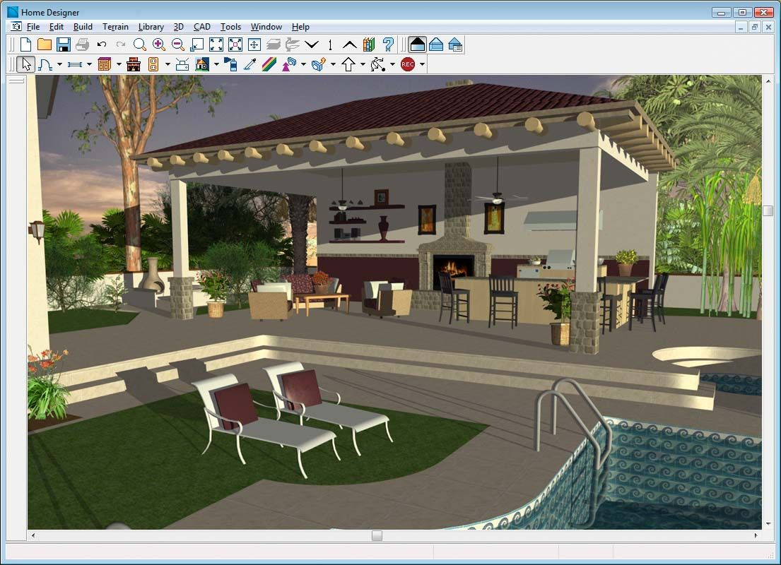 back deck with outdoor kitchen home design and landscape software home designer landscape and - Deck And Patio Design Software Free