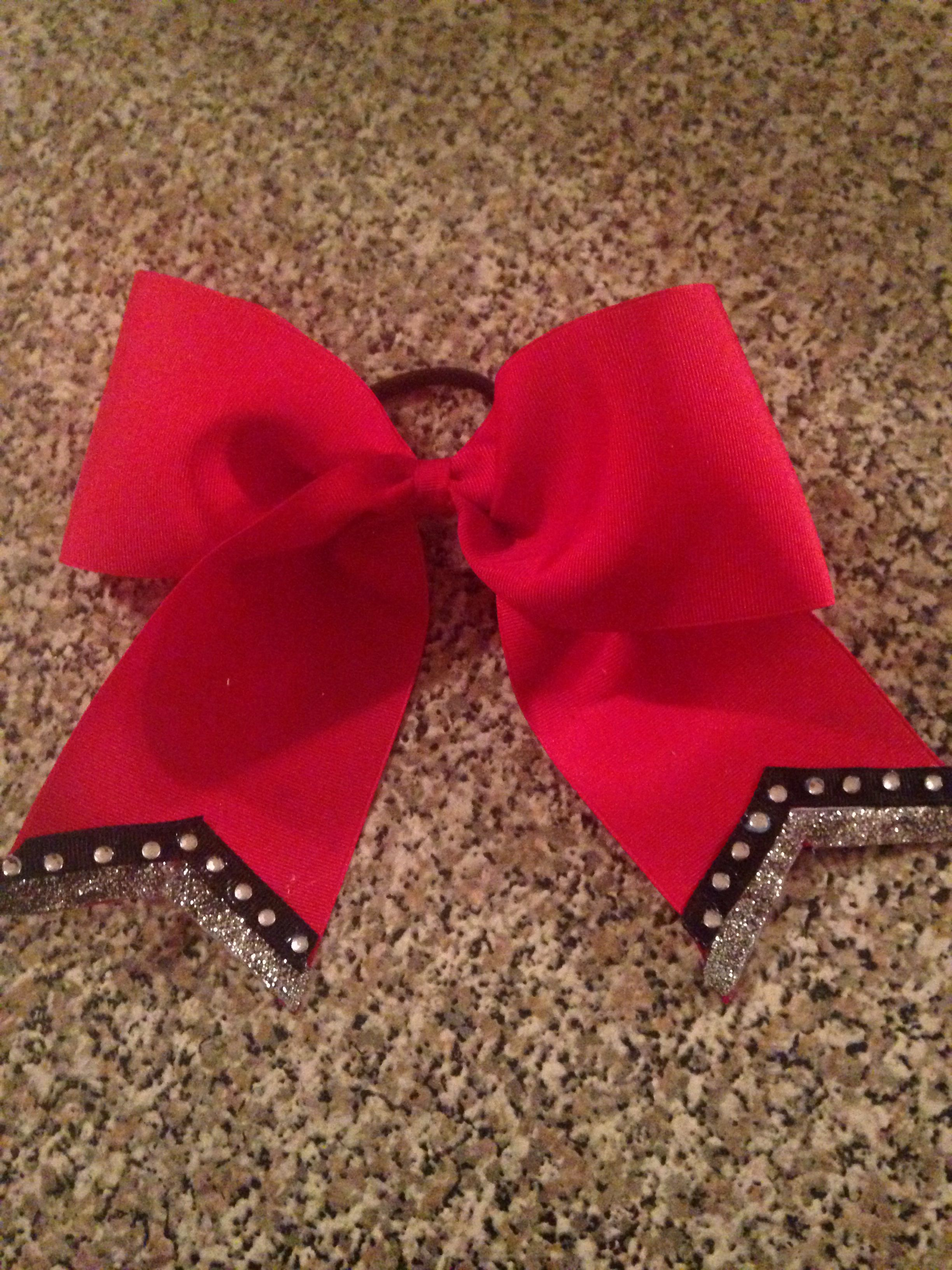 Cheer Bow with rhinestones