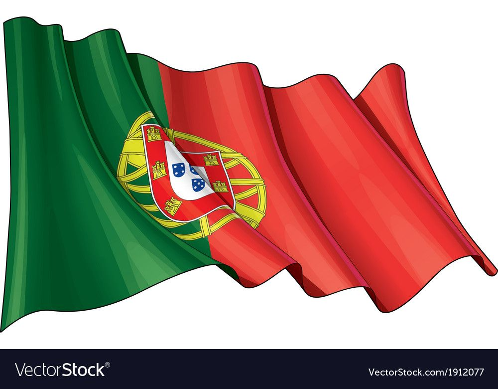 A Waving Portuguese Flag Download A Free Preview Or High Quality Adobe Illustrator Ai Eps Pdf And High Resolution Flag Vector Portugal Flag Portuguese Flag