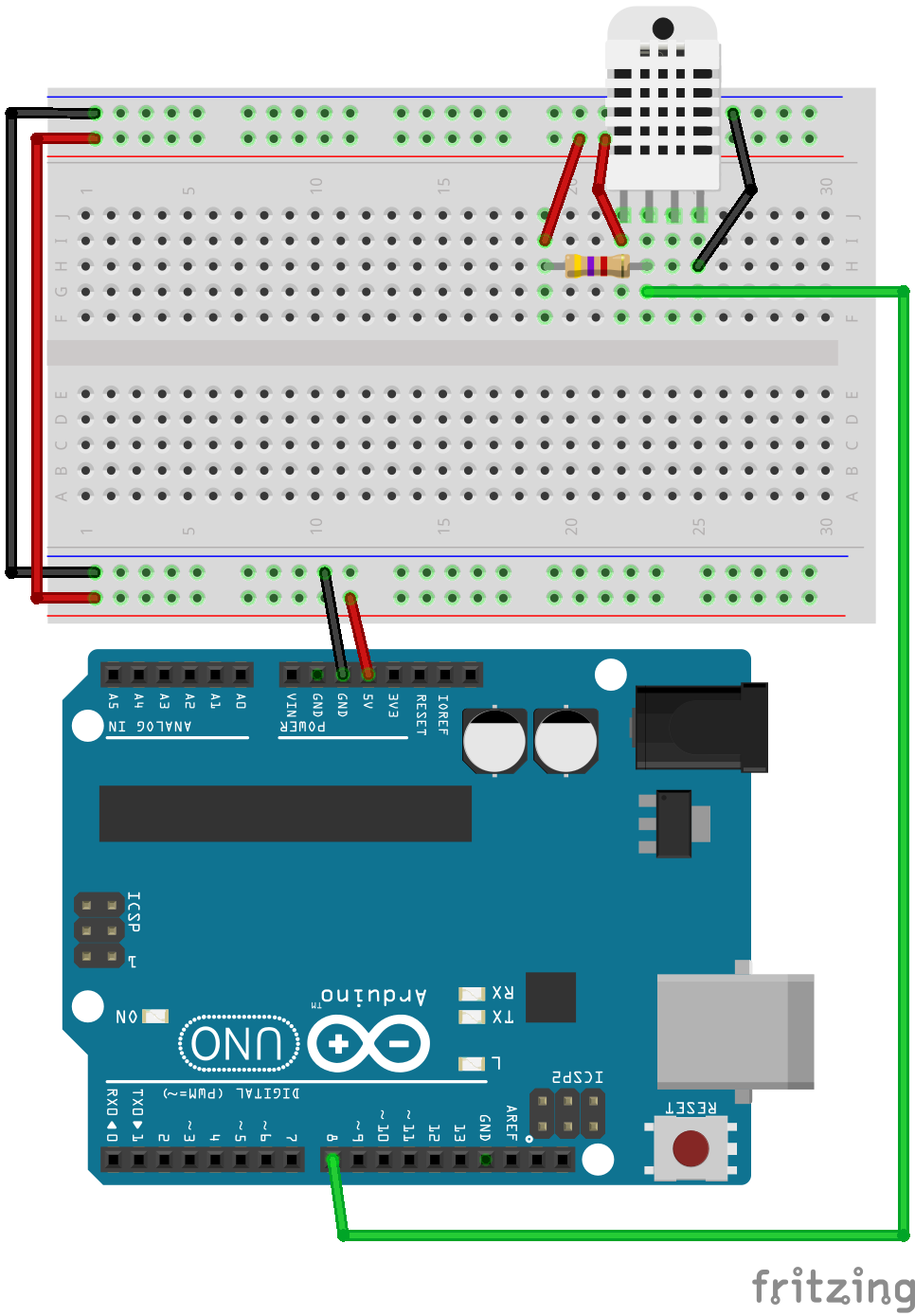 Connexion Dht11 22 Arduino Pinterest Color Sensing Tutorial Tsc230 Tsc3200 Sensor Circuit