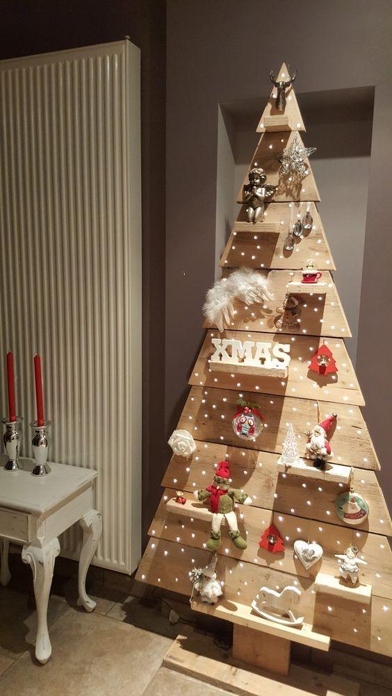 Photo of Preiswerte rustikale Weihnachtsdekoration – Palette Weihnachtsbäume – # Palette … Orte zu besuchen #diypallet – DIY Palettenkreationen