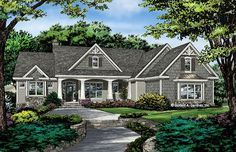 Check out the front rendering of home plan 1415, The Lucy. #WeDesignDreams