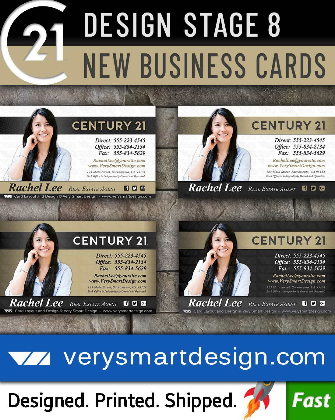 Custom Century 21 Business Card Templates With New C21 Logo 8a Dark Gray And Gold Glossy Business Cards Business Card Template Business Card Photoshop