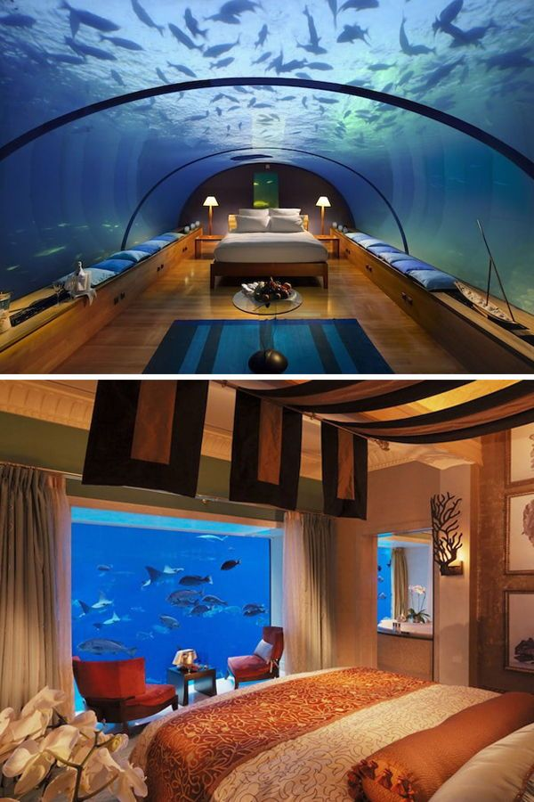Unique Hotel Rooms: 9 Underwater Hotel Rooms With The Most Spectacular Views