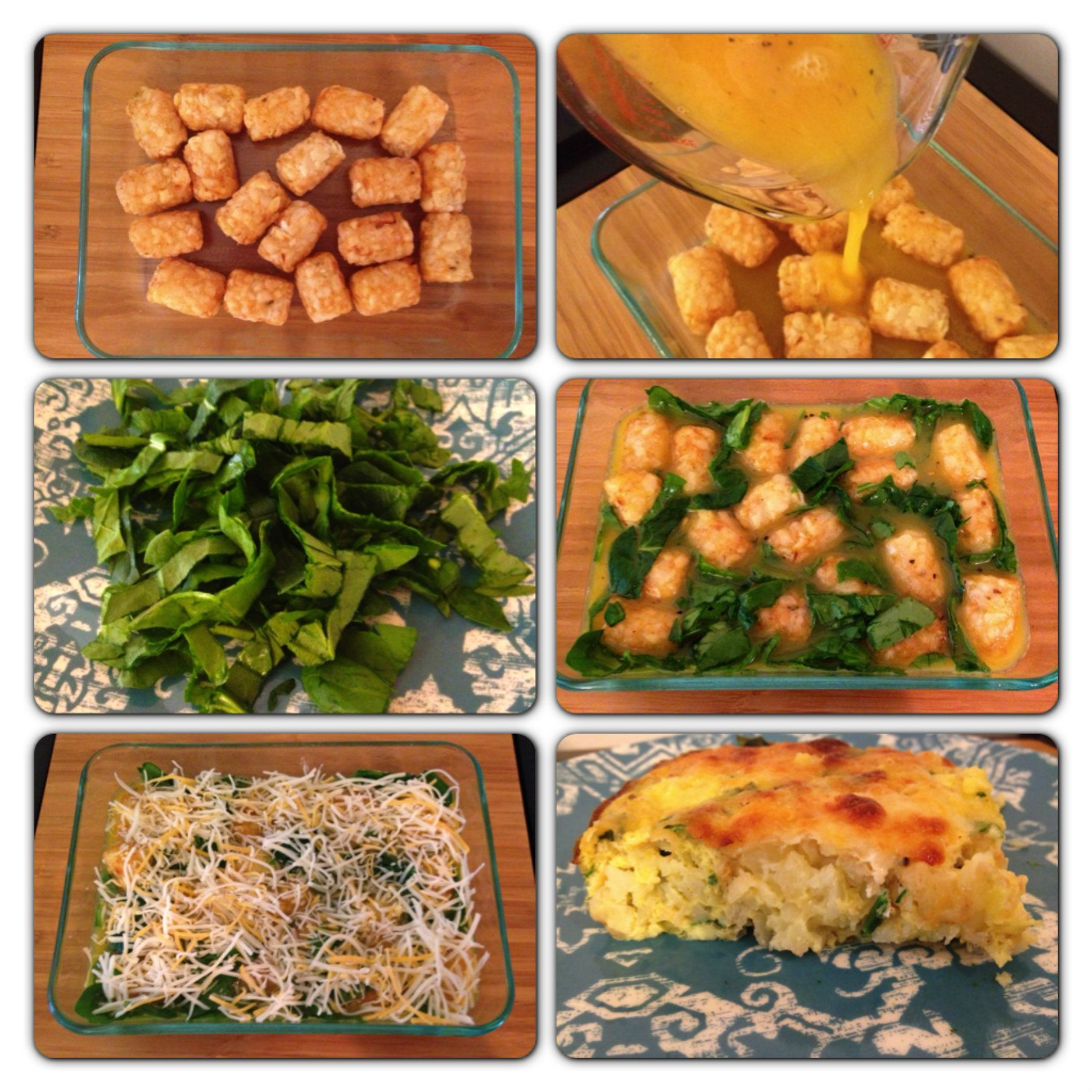 Tater Tot Breakfast Casserole Makeover. Only 318 calories
