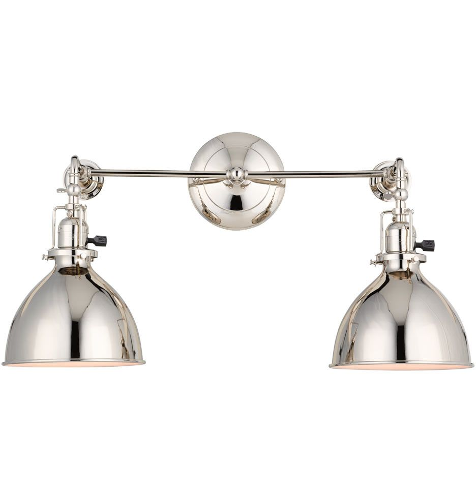 Delicieux Guest Bath Sconce    Grandview Double Sconce Industrial 2 Light Adjustable  Wall Sconce