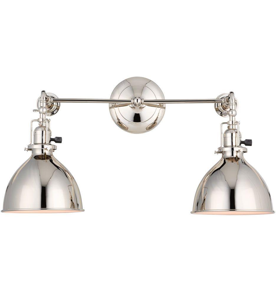 Guest Bath Sconce Grandview Double Sconce Industrial 2 Light