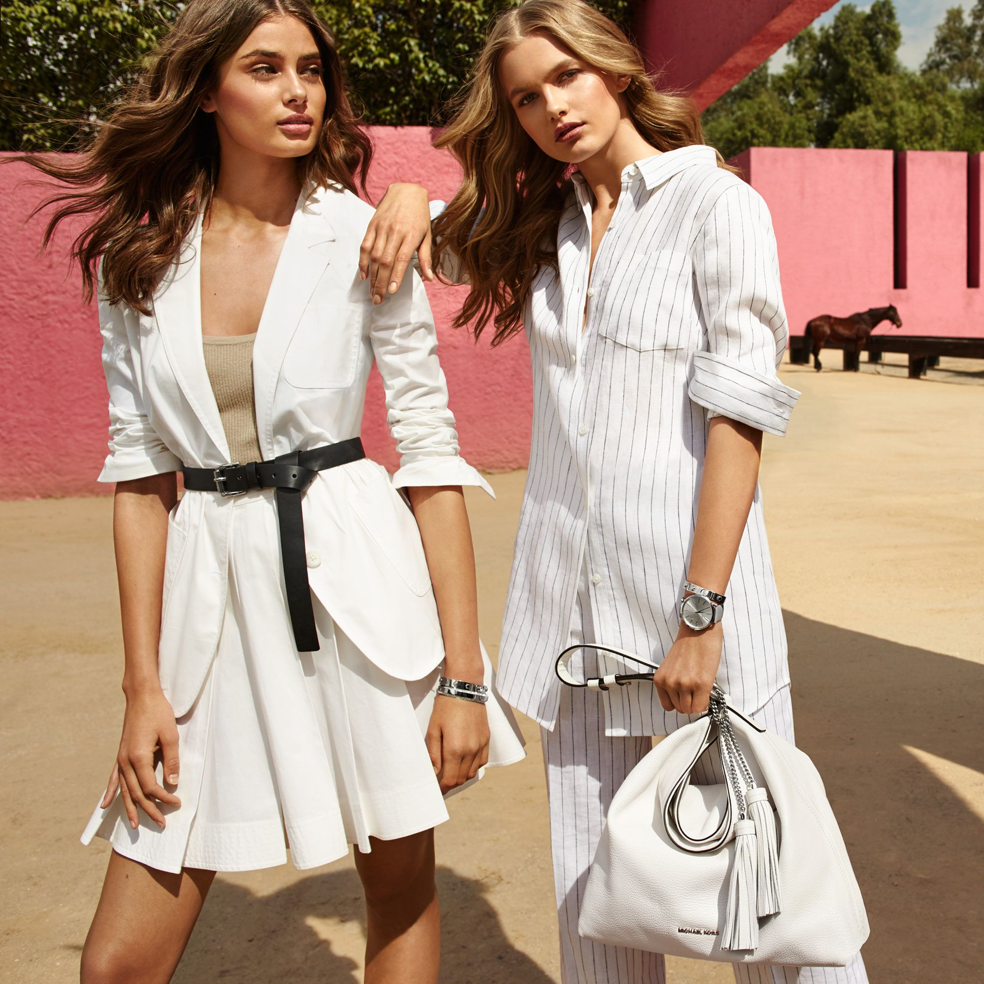 Master standout style with chic, crisp white separates ...