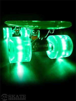 Sunset Alien #Complete #Skateboard with #green #LED lights