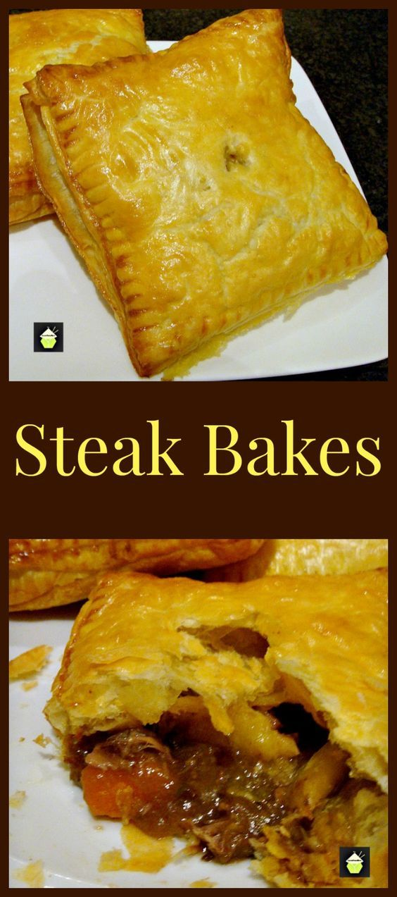 Steak Bakes (like Savory hand pies!). Delicious mini puff ...