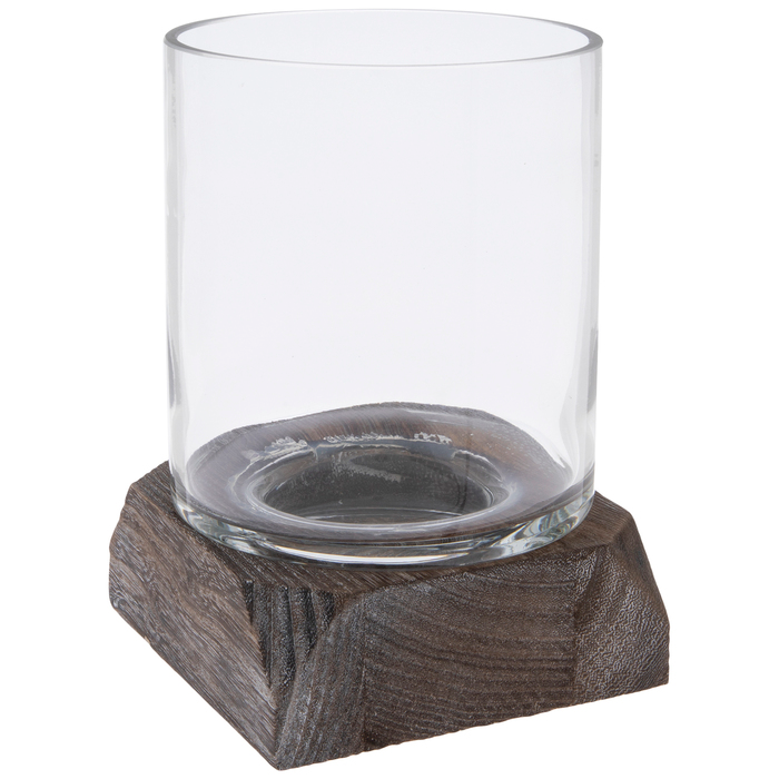 Get Glass Hurricane Jar With Base Candle Holder Online Or Find Other Size Products From Hobbylobby Com In 2020 Candle Holders Large Candle Holders Hurricane Glass