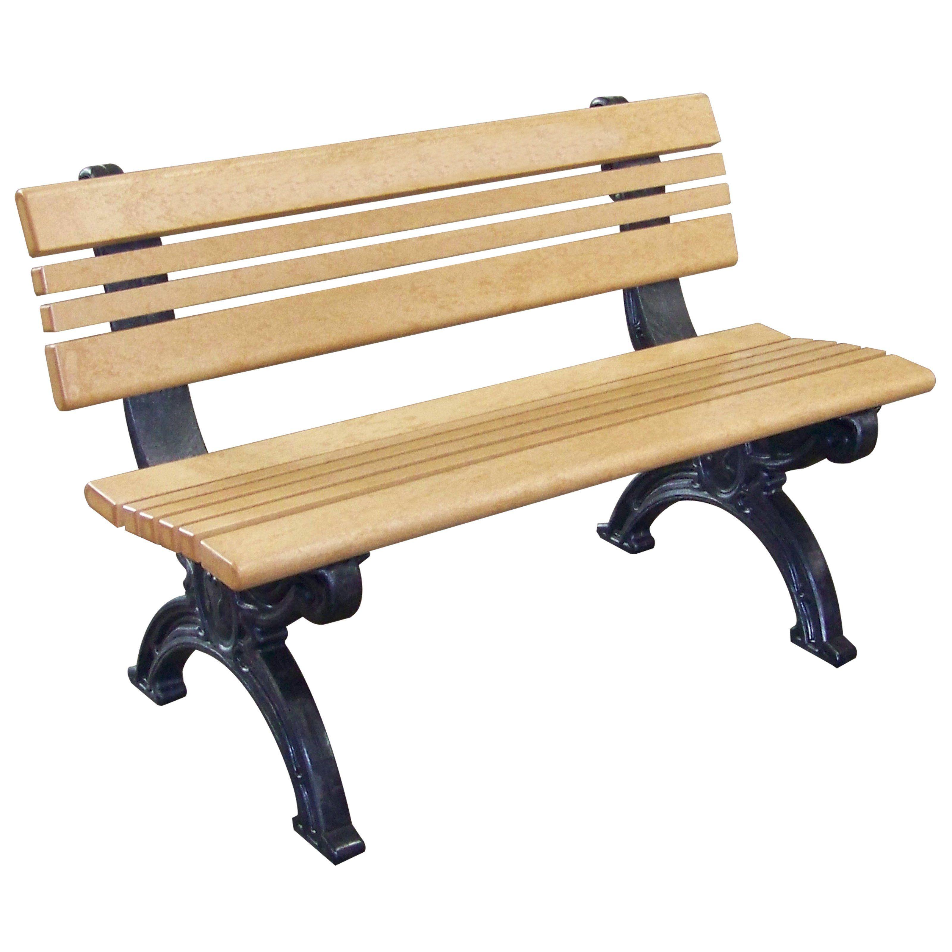cambridge 4 ft. commercial grade armless park bench $302.99