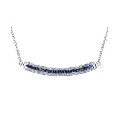Silver Black and White Diamond Necklace ... available at joyfulcrown.com