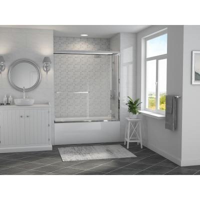 Coastal Shower Doors Paragon 3 16 B Series 64 In X 57 In Semi